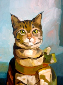 cute cat portrait painting