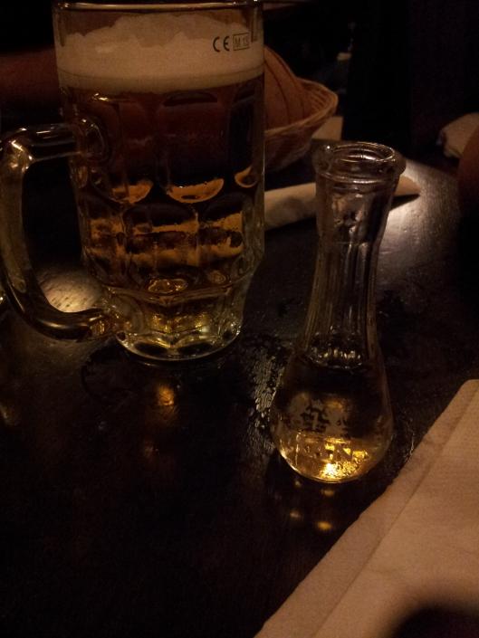 Palinca et la biere