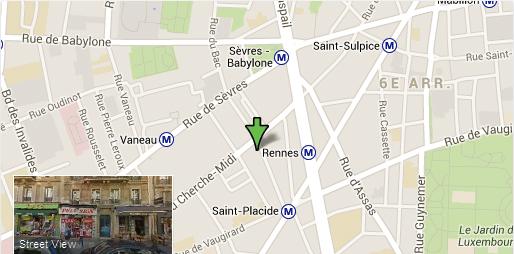 Google Map Resto Mandarine Sushi 32 rue Saint Placide