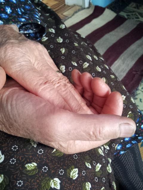 les mains de ma grande mere